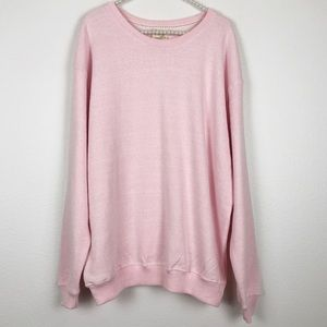 Tops - Pink Terry Oversized Sweatshirt Size Large